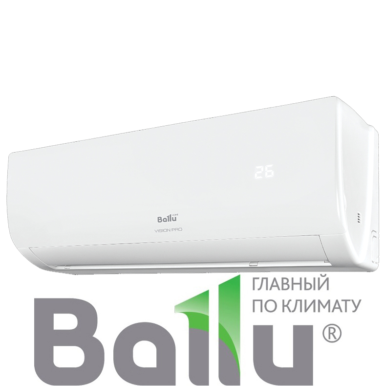 Настенный кондиционер Ballu BSVP-07HN1 серия VISION PRO со склада в Симферополе, для площади до 21м2. Официальный дилер!